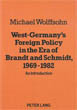 West-Germany's Foreign Policy